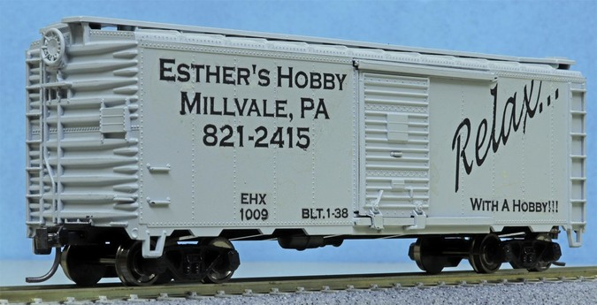 Esther's Hobby Shop box car