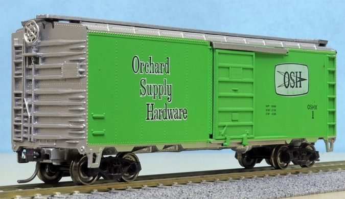 Orchard Supply Hardware, 40' boxcar at Kelley Park
